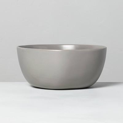 Stoneware Serve Bowl Matte Gray - Hearth & Hand™ with Magnolia
