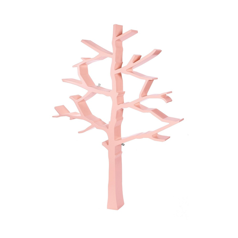 Image of Tree Bookcase Blush Pink - Nursery Works