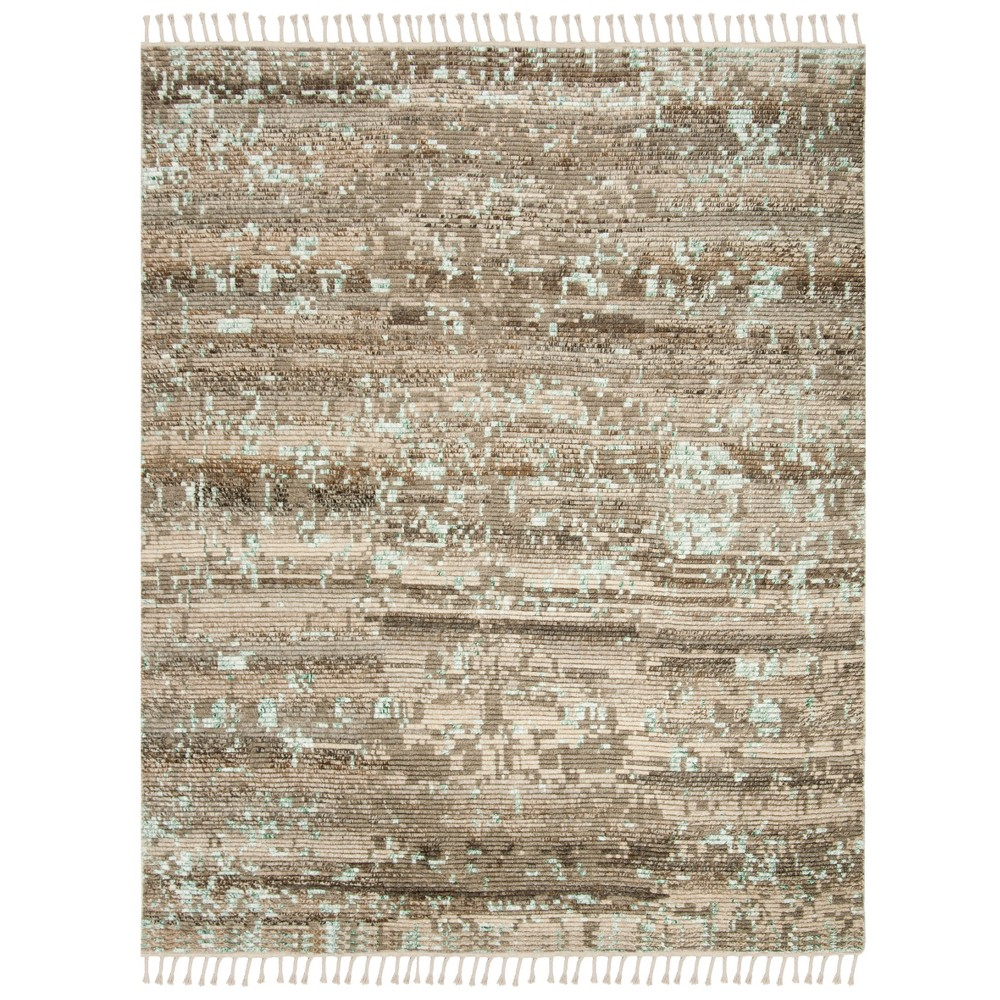 8'X10' Camouflage Knotted Area Rug Beige/Silver - Safavieh