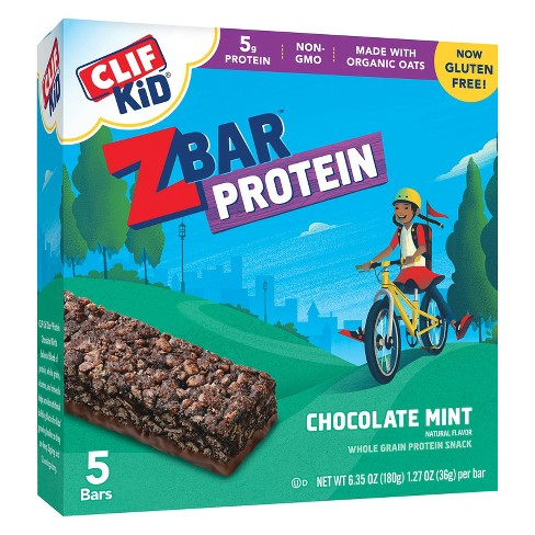 Clif Kid ZBar Protein Chocolate Mint Whole Grain Protein Bars 5 ct - image 1 of 1