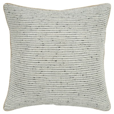 """20""""x20"""" Oversize Striped Square Throw Pillow Cover Light Gray - Donny Osmond Home"""