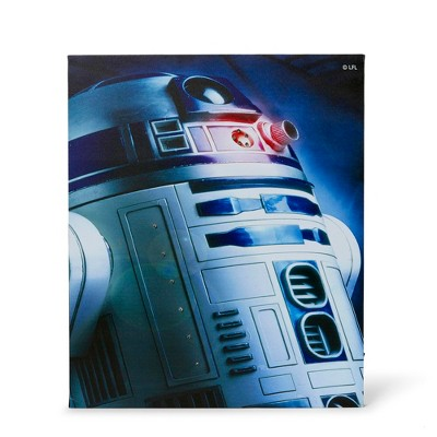 "Seven20 Star Wars Illuminated Canvas Art - 23.9""x19.9"" - R2D2"