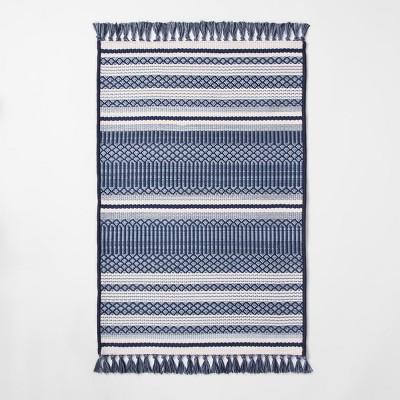 Global Stripe Blue Outdoor Rug - 30 x50  - Threshold™