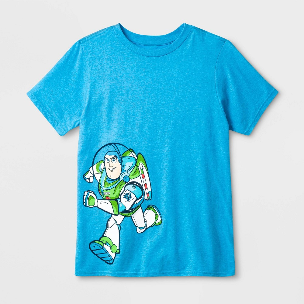 Image of Boys' Disney Toy Story Buzz Lightyear Graphic T-Shirt - Blue, Boy's, Size: XL
