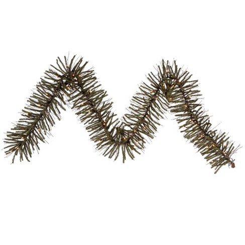 "Vickerman 9' x 10"" Prelit Vienna Twig Artificial Christmas Garland - Clear Lights - image 1 of 2"