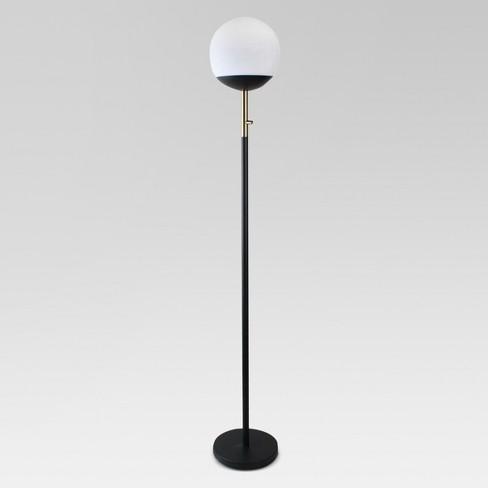 Globe Head Floor LED Lamp Black (Includes Energy Efficient Light Bulb) - Project 62™ - image 1 of 3