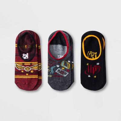 Women's Harry Potter 3pk Liner Socks - Red/Gray/Black 4-10