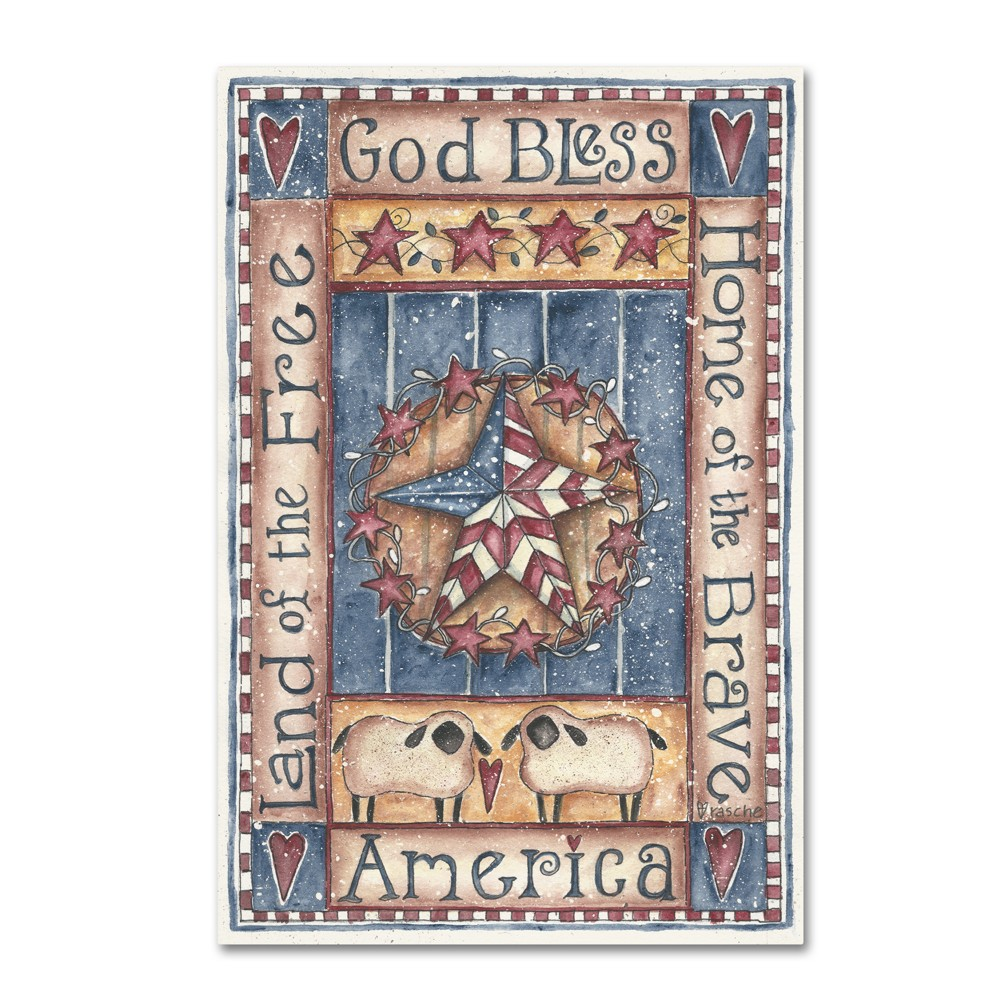 Shelly Rasche God Bless America Home of The Brave Canvas Art 24