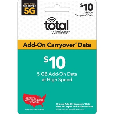 Total Wireless $10 Add-On Carryover Data Card (Email Delivery)