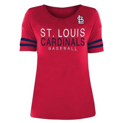 MLB St. Louis Cardinals Women's Poly Rayon T-Shirt