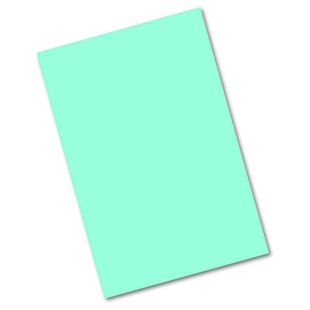 Paper 12  X 18  Pacon Blue Heavyweight, acid-free, all-purpose classroom art paper with soft eggshell finish. Contains 25 percent sulphite for clean cutting and better folding. Size: 12 x 18; Paper Color(s): Blue-Green; Paper Weight: 76 lb.; Sheets Per Unit: 50. Color: Blue.