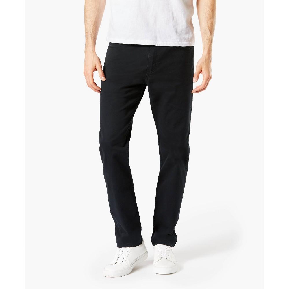 Dockers Men 39 S Slim Fit All Seasons Tech 5 Pocket Pants Black 33x30