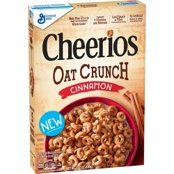 Cheerios Cinnamon Oat Crunch Breakfast Cereal - 15.2oz - General Mills