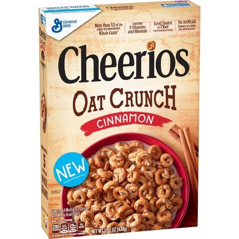 Cheerios Cinnamon Oat Crunch Breakfast Cereal - 15.2oz - General Mills - image 1 of 3