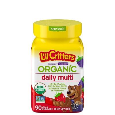 L'il Critters Organic Multivitamin Gummies - Berry - 90ct