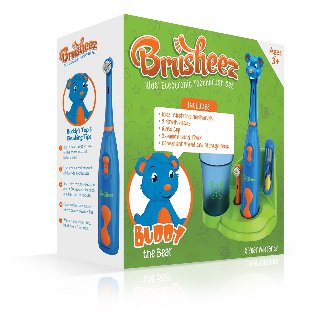 Image of Brusheez Buddy the Bear Children's Electric Kids Toothbrush Set