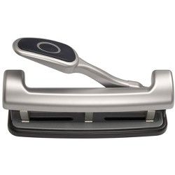 Officemate EZ Lever Adjustable 2 or 3 Hole Punch with Lever, 25 Sheets