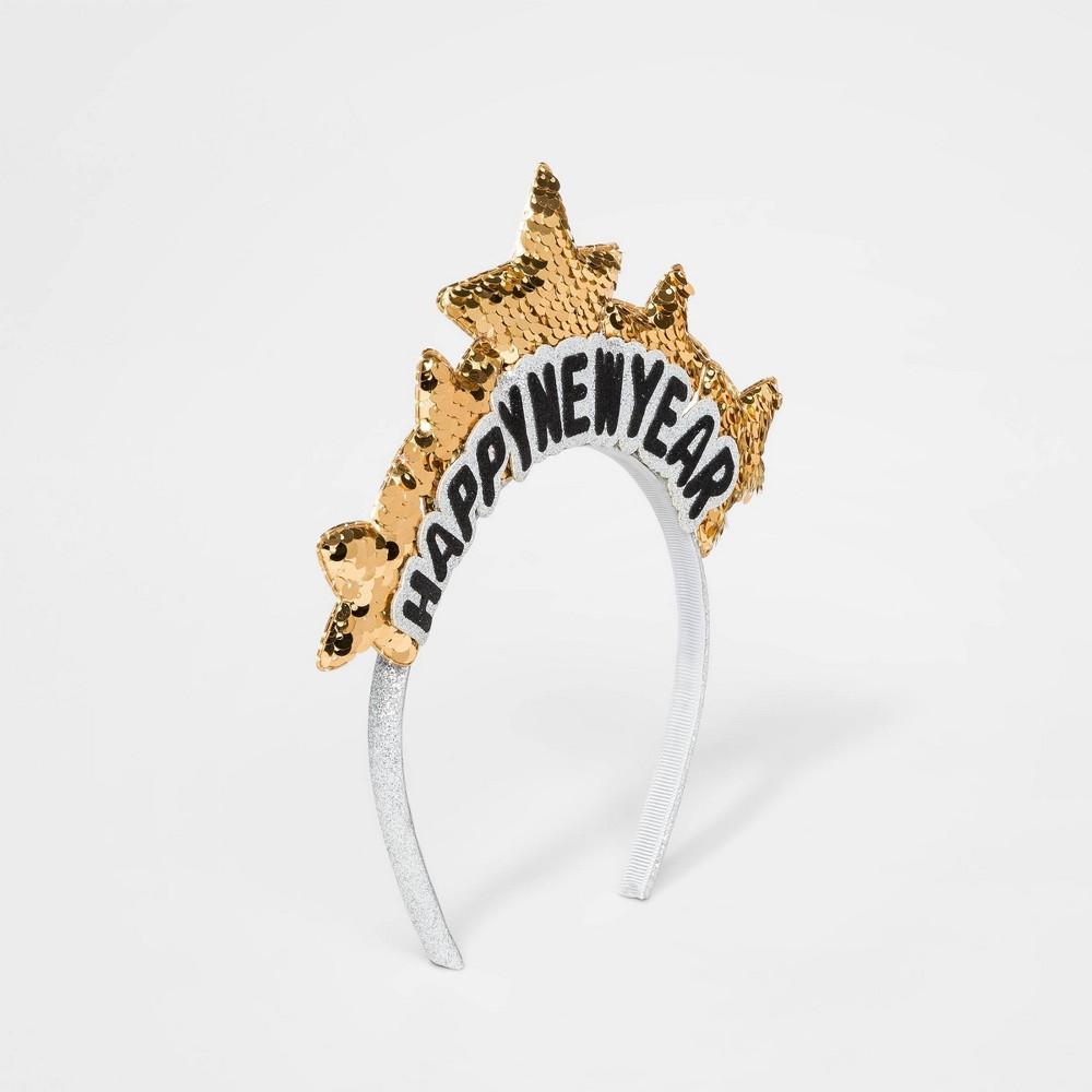 Image of Girls' New Year Star Headband - Cat & Jack Gold/Black