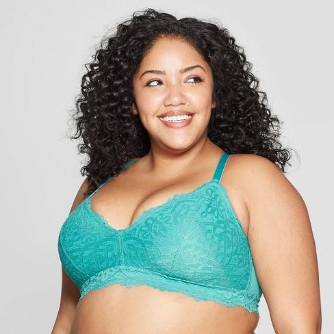 dfd6fd292a629 Women s Plus Size Racerback Bralette - Auden™ Dapper Turquoise 1X ...