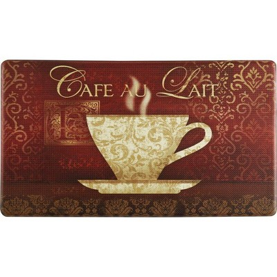 "Home Dynamix 19"" x 35"" New Coffee Kitchen Mat Red"