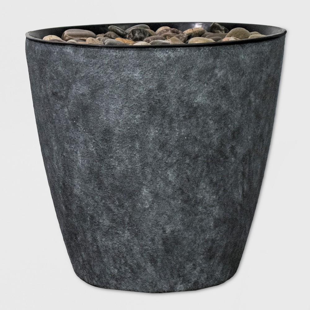 "Image of ""17""""H Light Up Textured Plastic Resin Outdoor Fountain With Decorative Rocks Gray - Backyard Expressions"""