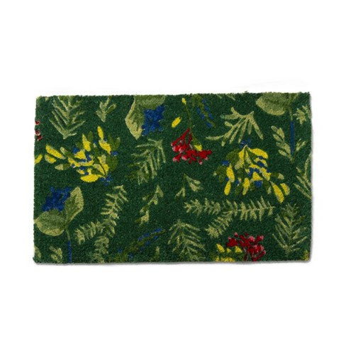 tag Sprig Coir Mat Renewable Coconut Fiber Doormat Christmas Xmas Holiday - image 1 of 4