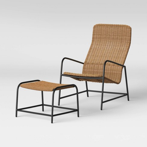 Wexler Patio Lounge Chair With Ottoman