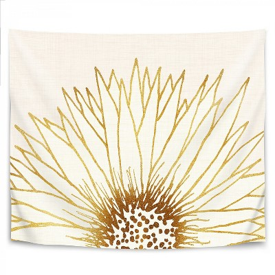 Simple Sunflower by Modern Tropical Wall Tapestry