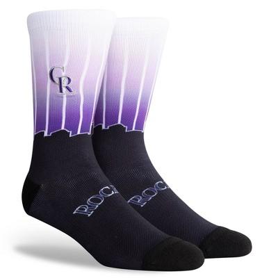 MLB Colorado Rockies Sky Crew Socks - L