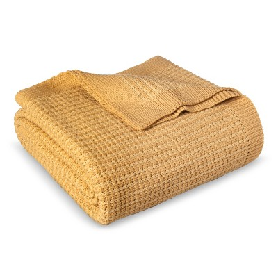 Full/Queen Sweater Knit Bed Blanket Toasted Marshmallow - Threshold™