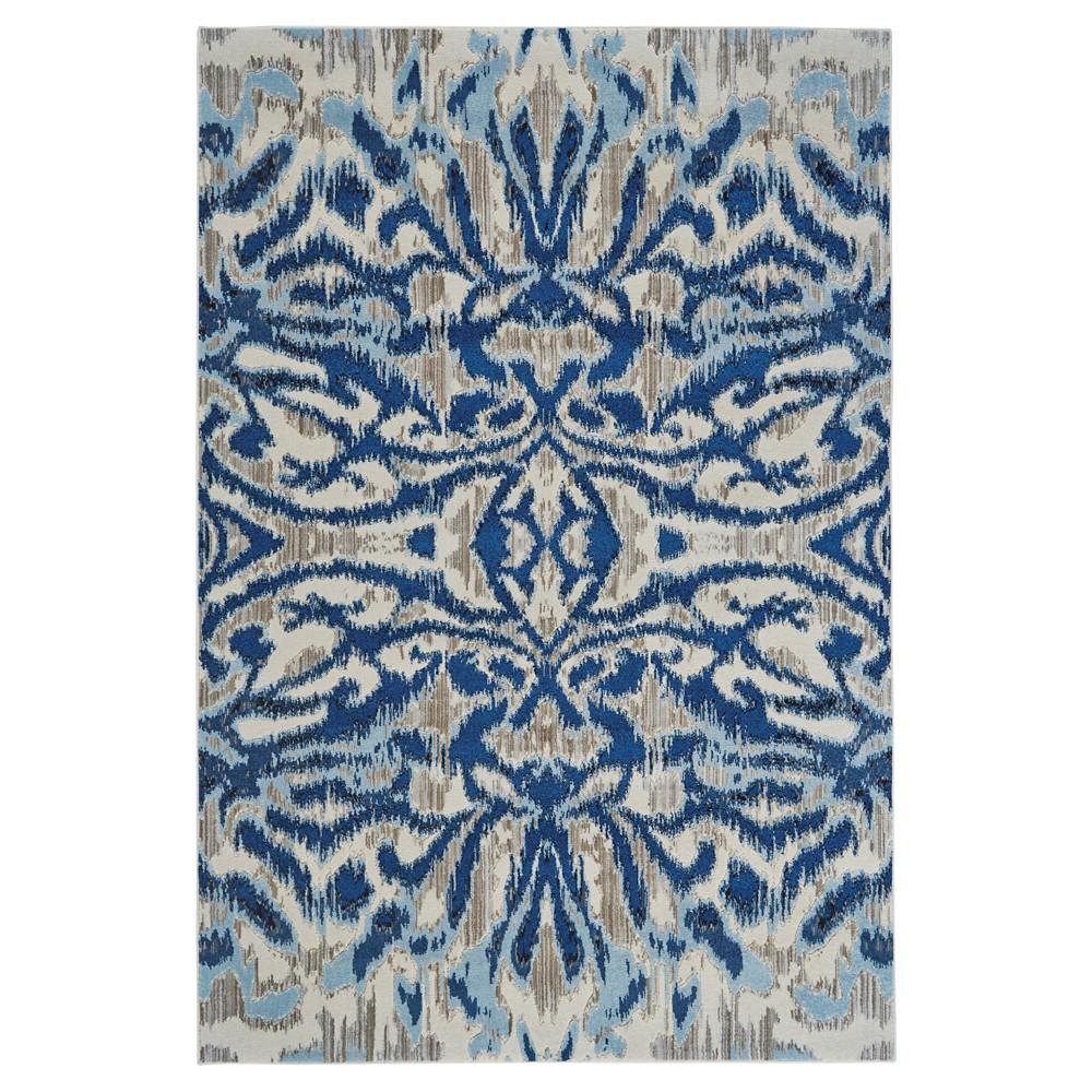 Image of 10'X14' Ikat Design Loomed Area Rugs Blue Haze - Weave & Wander