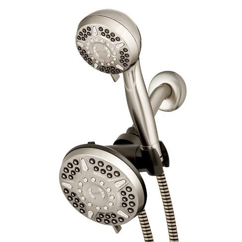 6+6 Power Pulse Dual Shower Head Brushed Nickel - Waterpik - image 1 of 4