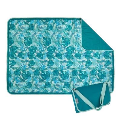 ECR4Kids Lightspeed Outdoors XL Outdoor Folding Blanket, Portable Beach Blanket, Yucca Frond (2-Pack)