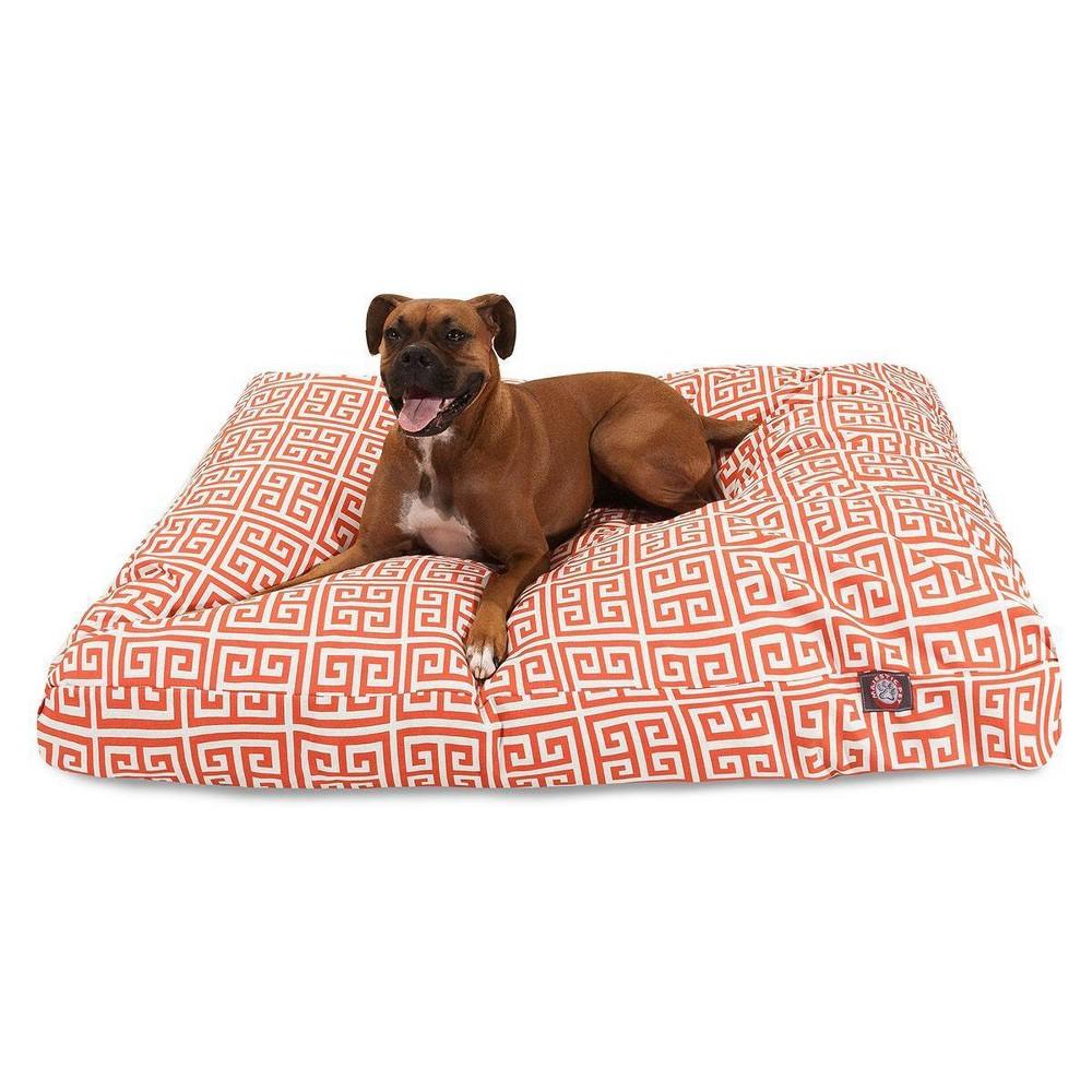 Majestic Pet Towers Rectangle Dog Bed Orange Large L