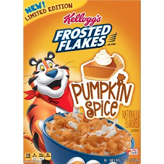 Frosted Flakes Pumpkin Spice Breakfast Cereal - 10oz - Kelloggs