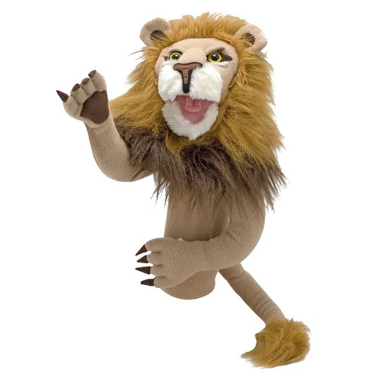 Melissa & Doug Rory the Lion Puppet With Detachable Wooden Rod for Animated Gestures image number null