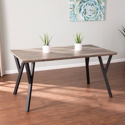 Tifchan Contemporary Dining Table Brown/Black - Aiden Lane