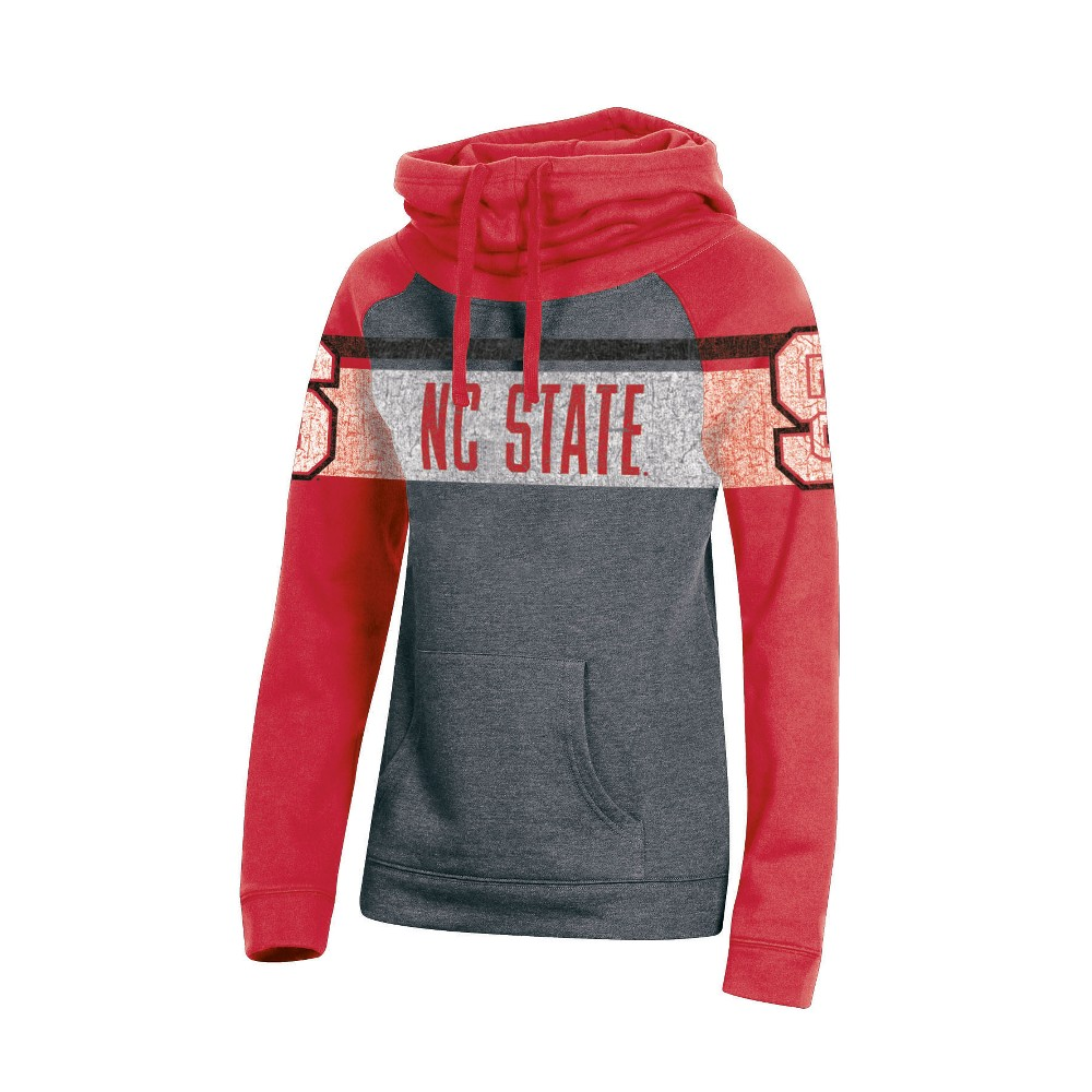 NC State Wolfpack Women's Cowl Neck Hoodie - M, Multicolored