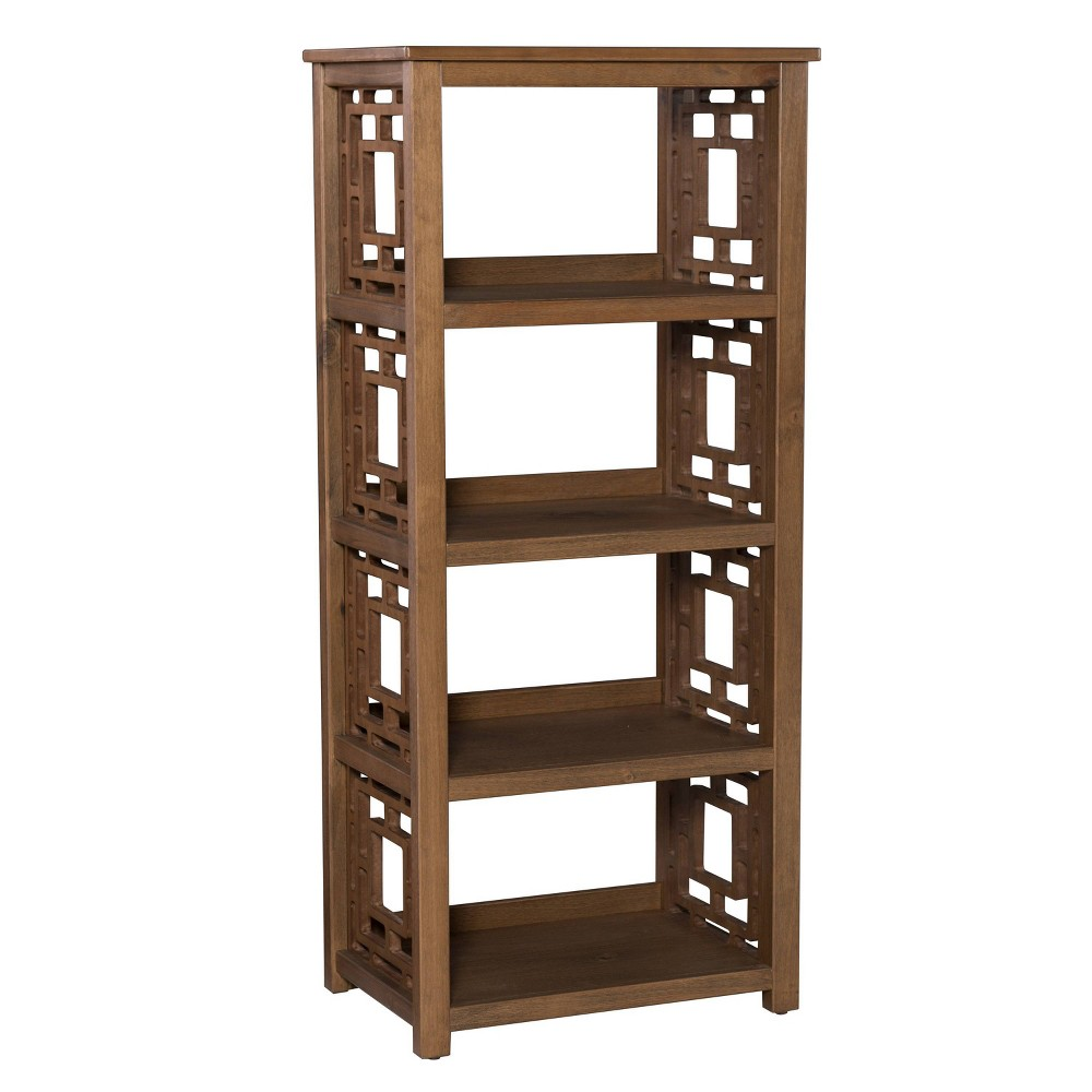54.5 Hardy Bookcase Brown - Linon 54.5 Hardy Bookcase Brown - Linon Pattern: Solid.