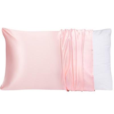 1 Pc Queen 100% Natural Pure Silk Pillowcase Peach - PiccoCasa