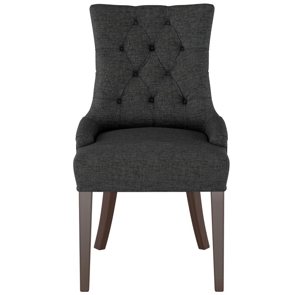 English Arm Dining Chair Black Linen - Threshold