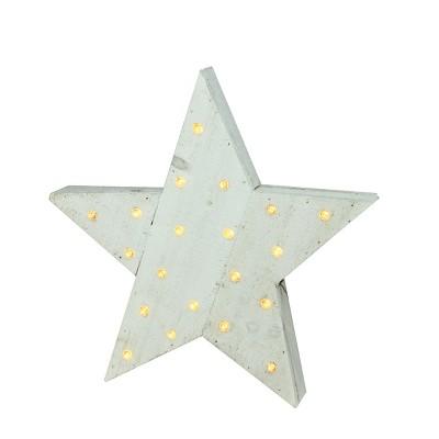 """Kaemingk 15.5"""" Blue LED Lighted Country Rustic Star Christmas Decor"""