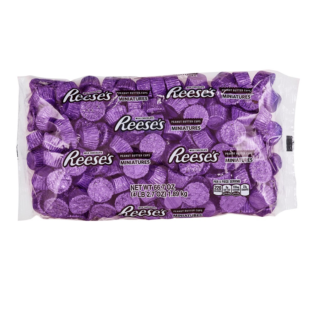 Reese's Peanut Butter Cups Miniatures in Purple Foil - 4lbs
