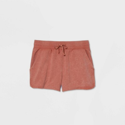"""Women's Mid-Rise French Terry Shorts 3.5"""" - All in Motion™ Rust XXL"""