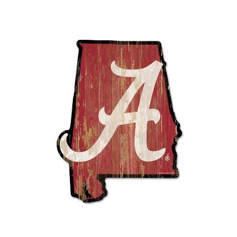 NCAA Alabama Crimson Tide Wood State Sign - image 1 of 1