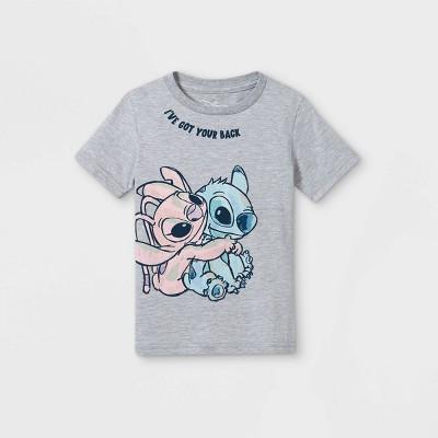 Toddler Girls' Disney Lilo & Stitch Short Sleeve Graphic T-Shirt - Gray - Disney Store