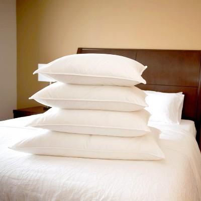 DOWNLITE Medium Density 230 TC 600 Fill Power White Goose Down Hotel Bed Pillow