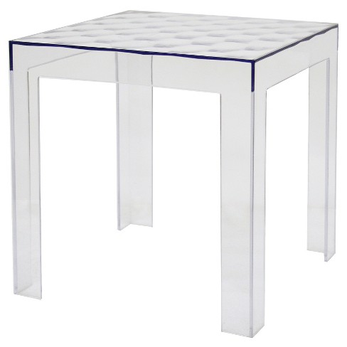 Parq Acrylic Modern End Table Clear - Baxton Studio - image 1 of 1