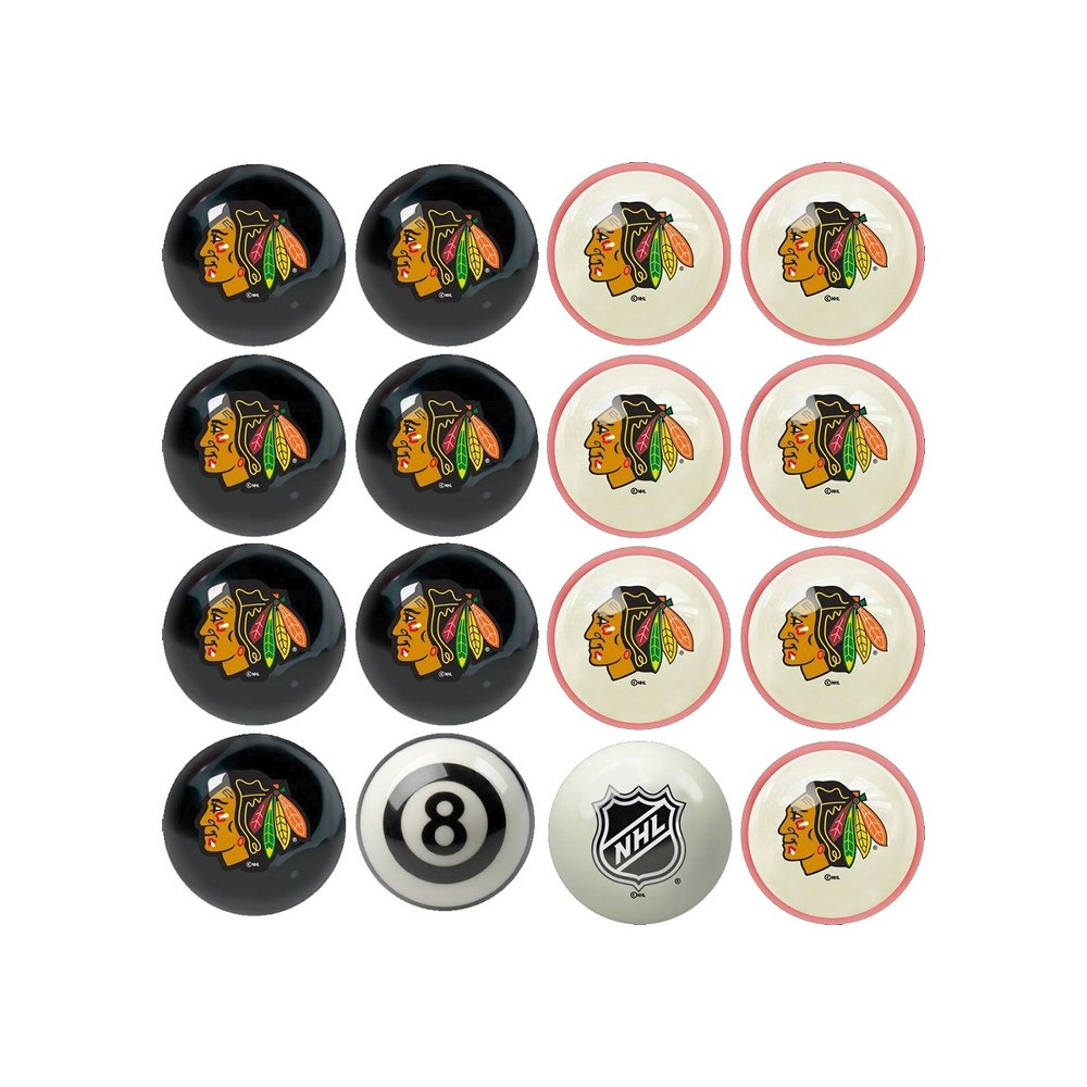 NHL Chicago Blackhawks Home & Away Billiard Ball Set