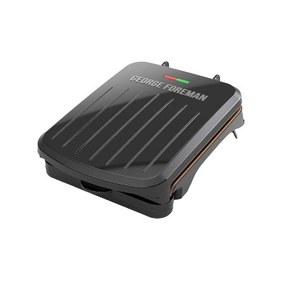 George Foreman 2 Serving Classic Plate Electric Grill & Panini Press - Black - GRS040BZ